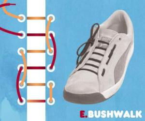 cara mengikat tali sepatu model bushwalk - salofa - instagram
