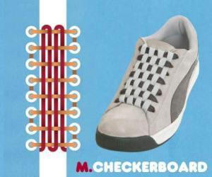 cara mengikat tali sepatu model checkerboard - salofa - instagram