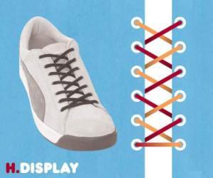 cara mengikat tali sepatu model display - salofa - instagram