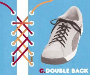 cara mengikat tali sepatu model Double back - salofa - instagram