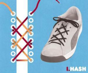 cara mengikat tali sepatu model hash - salofa - instagram