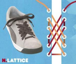 cara mengikat tali sepatu model lattice - salofa - instagram