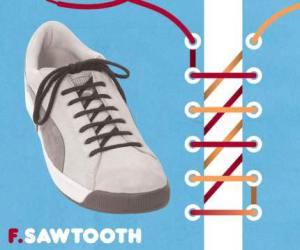 cara mengikat tali sepatu model swatooth - salofa - instagram