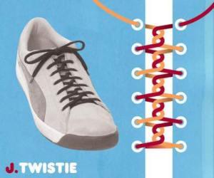 cara mengikat tali sepatu model twistie - salofa - instagram